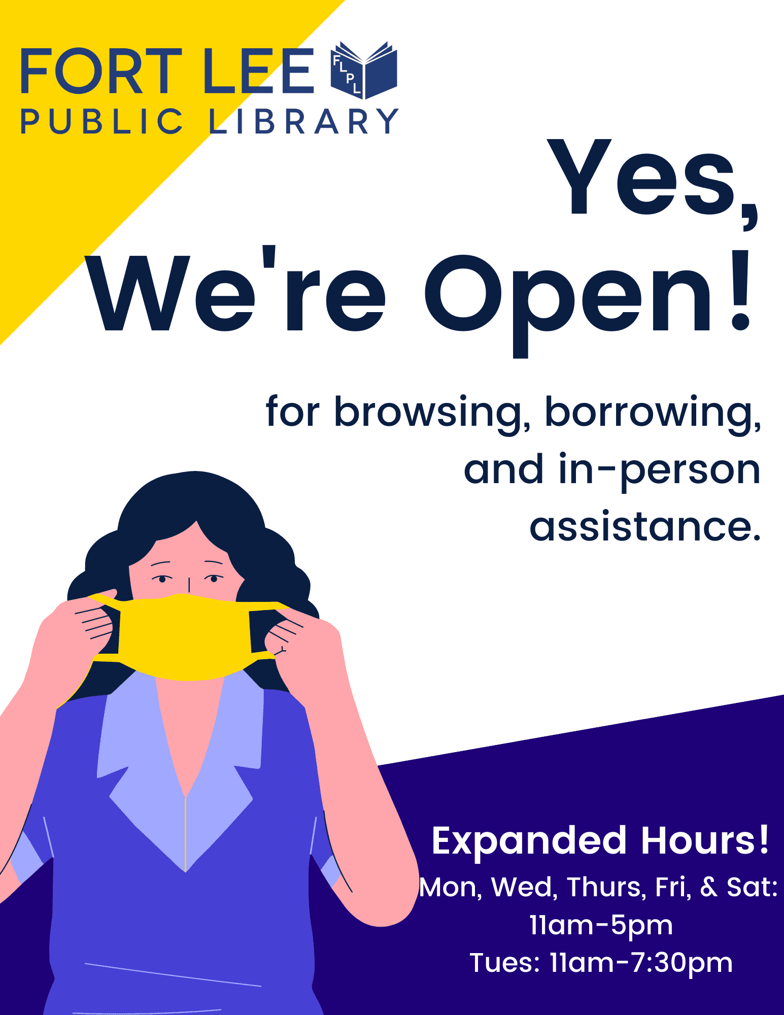 Library Open April 2021