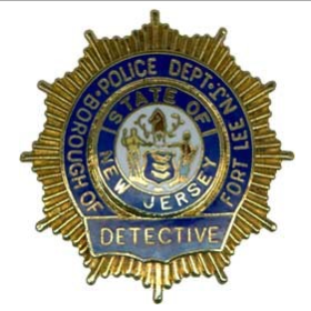 Borough of Fort Lee New Jersey Police Department Detective Badge